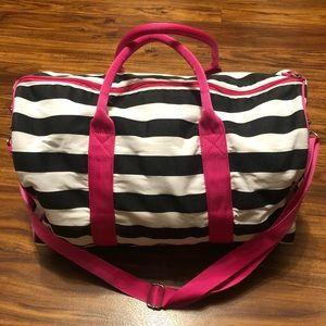 Victoria's Secret Bags - Victoria's Secret Black White & Pink Duffle Bag